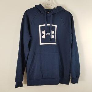 Under Armour Blue Hooded Sweatshirt M Blue